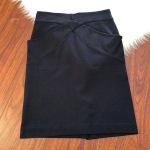 BCBGMaxAzria Pencil Skirt Stretch Ponte Knit, 6